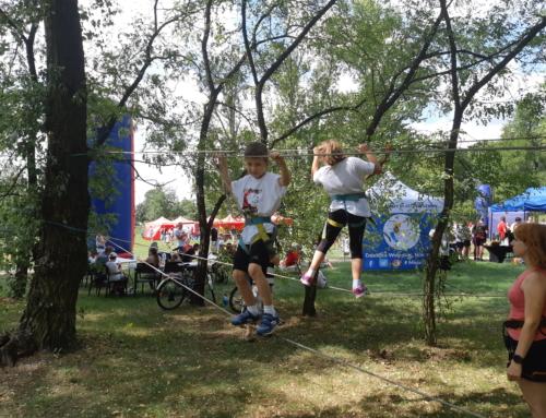 Zabawy linowe na imprezach w Warszawie